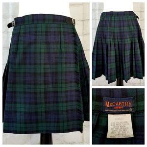 McCarthy 18 Black Watch Tartan Plaid Uniform Skirt